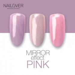 Pink mirror effect pigment
