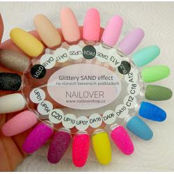 Sand effect glittery